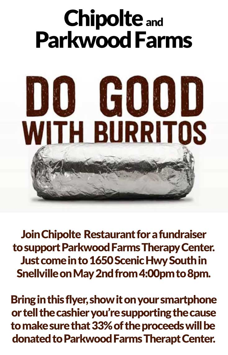Have a Burrito.... Make a Difference!!